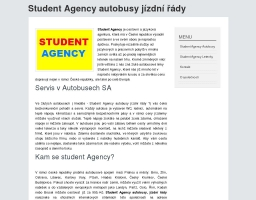 Student Agency autobusy